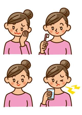 dentalcare: dental health, woman