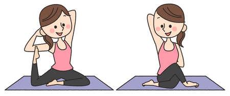 yoga pose woman Stock Photo