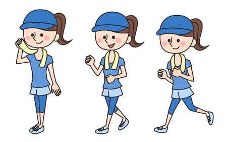 jogging working woman