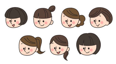 woman face icons