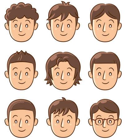 man face: man face icon Stock Photo