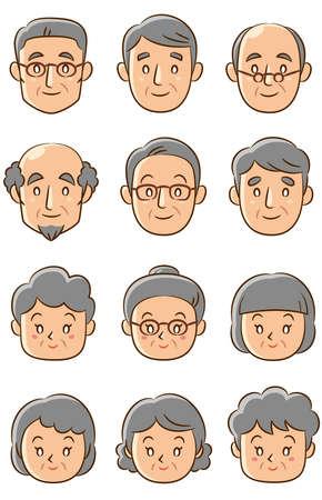 senior face icons