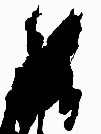 horse and rider silhouette       photo