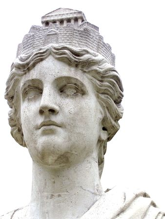 diosa griega: estatua de m�rmol de Atenas