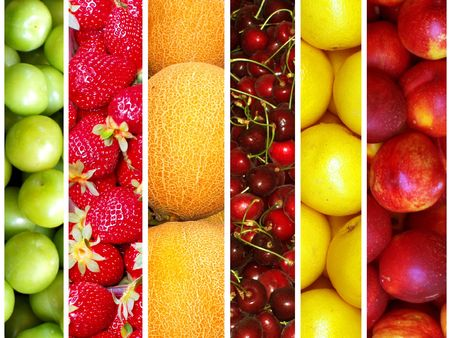 cherry varieties: fruit collection Stock Photo