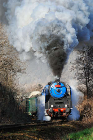 Prague steam train