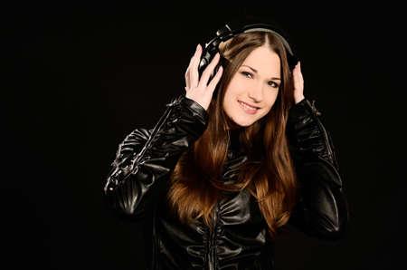 Young woman enjoying good music
