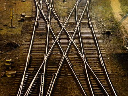 decission: Trasversale ferroviaria presa dall'alto Archivio Fotografico