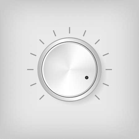 radio unit: Gray round volume driver