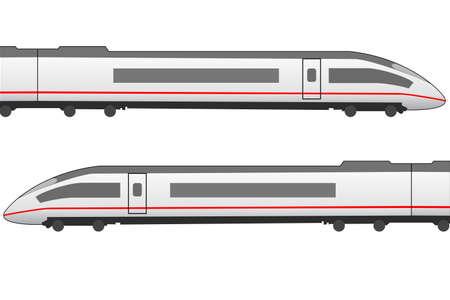 ドイツの氷による高速鉄道アイコン  イラスト・ベクター素材