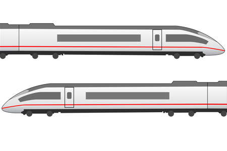 German ICE based high speed train icon Vector