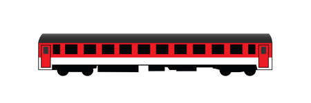 New rail car for long distances traveling Illustration