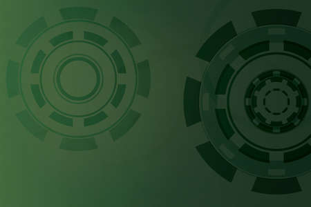 Green 100  vector creative background with many circles