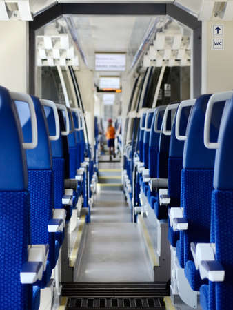 New regional Czech Railways train seats and corridor