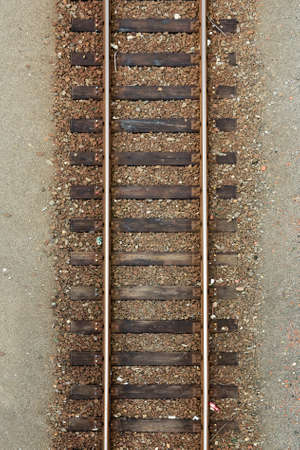 Rail track taken from above