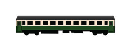 Passenger rail car vector plain icon Illustration
