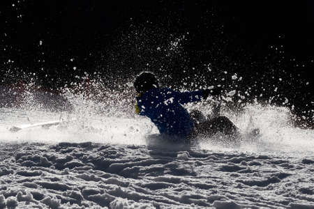 Skier during a heavy downfall