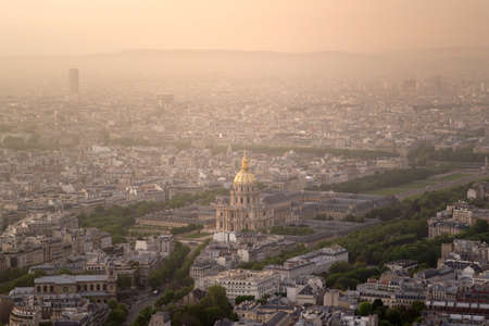 Invalides and Paris city centre Stock Photo