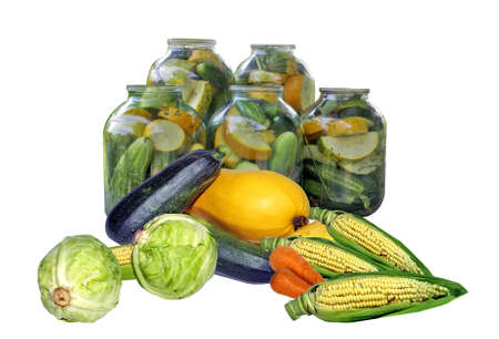 seasonof preparation and preservation of vegetables. Stock Photo