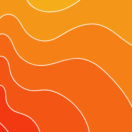 Abstract wavy background in red tones. Pattern thick and thin winding lines. Vector illustration