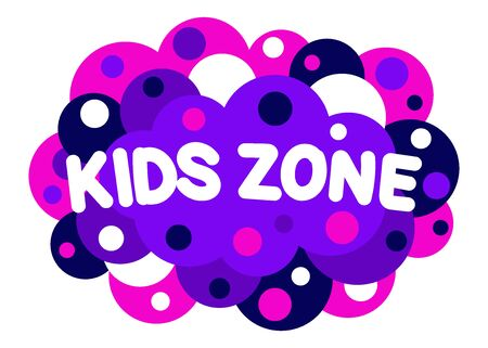 Kids zone with background from circles design. Playground for children. For game room