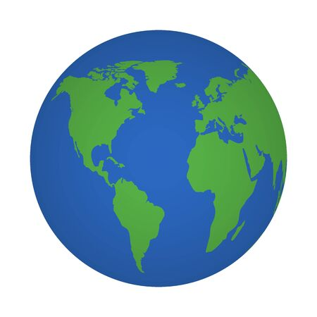 Planet earth icon. Environment planet, map world. Circle globe, world Vector 矢量图像