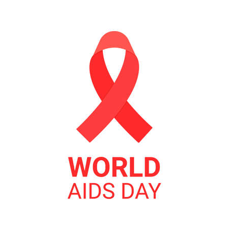 Aids Awareness. World Aids Day concept. Aids Awareness red heart ribbon. Vector