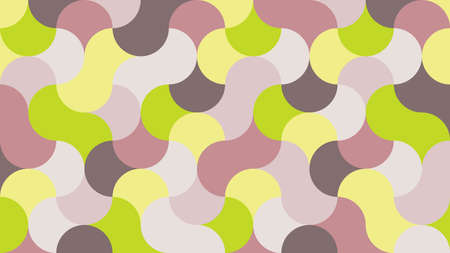 Flat, fashionable, stylish, geometric background in shades of lime punch 1920 x 1080 px. for interior, design, advertising, screen saver, wallpapers, covers, walls, printing. vector pattern Illustration