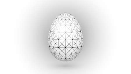 Easter egg with geometric pattern vector illustration
