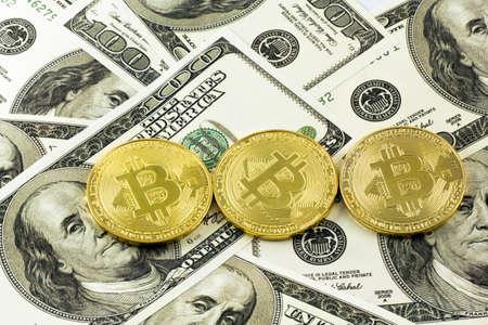 bitcoin and dollar bacground
