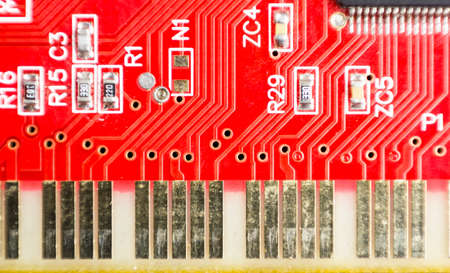 close up of sound card Stock Photo