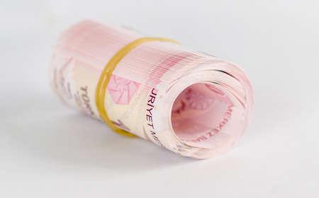 Rolled turkish lira