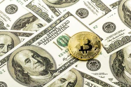 bitcoin pver the dollar bills