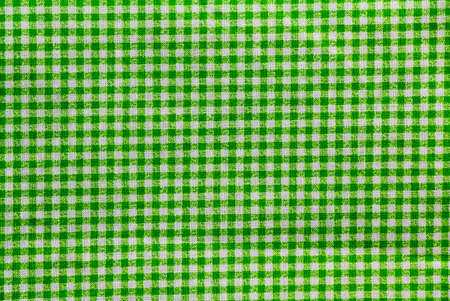 green and white checkered tablecloth banner