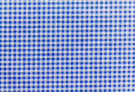 blue and white checkered tablecloth banner