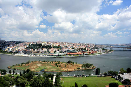 Panoramic view of Istanbul from Pierre Loti Hill.