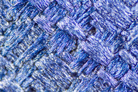 close up of blue mesh fabric