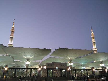 Masjid an-Nabawi at Dusk Editorial