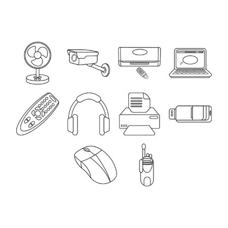 Creative technology icons.