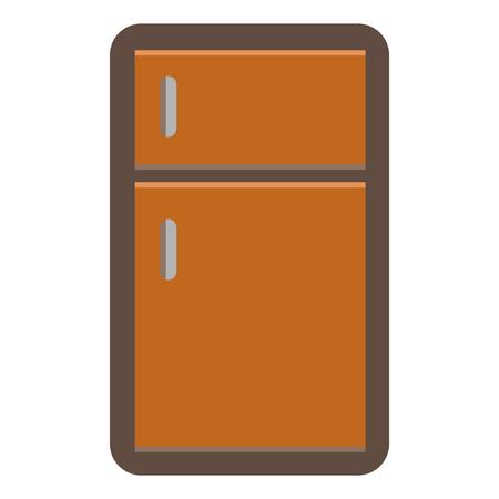 Refrigerator flat icon Ilustração