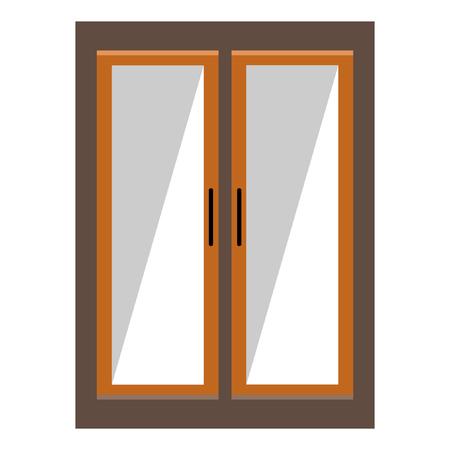 Wardrobe flat icon