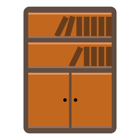 Bookshelf flat icon