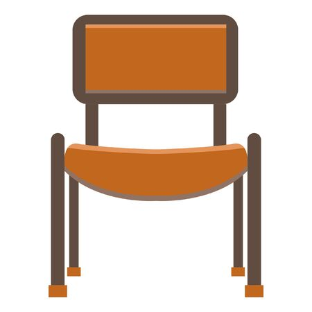 Chair flat icon.