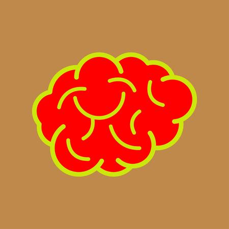 Brain idea design, badges, symbol, concept and logo Stok Fotoğraf