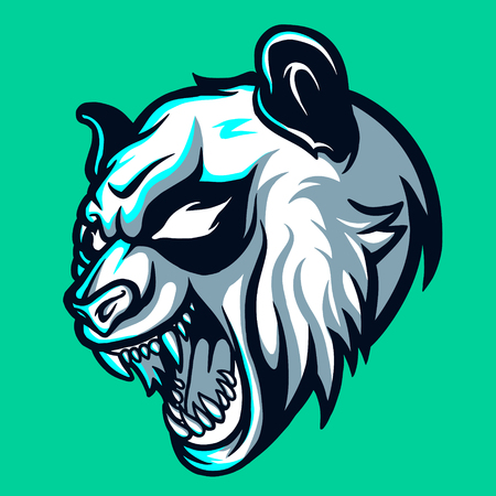 Wild Panda Esports Logo for Mascot Gaming and Twitch