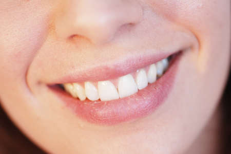 Close-up of beautiful girl smiling Stock Photo