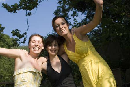 Three girls having fun at the beach. Stock Photo - 7449576