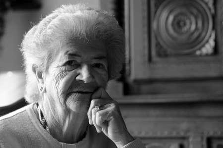 Sad senior woman (83 Years old) thinking about life. Stock Photo - 7730186