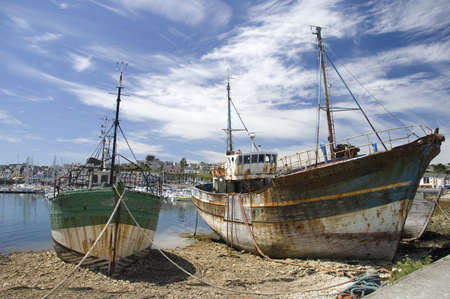 Two shipwrecks at Camaret-sur-mer in Brittany, France photo
