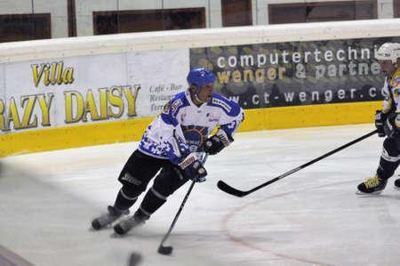 oldies: ZELL AM SEE, AUSTRIA - OCT 1: Austrian Icehockey Classic Tournament. Zdenek Vanek - father of NHL star Thomas Vanek - skating. Game Grazer Oldies vs. West coast stars (Result 2-2).